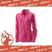 【Wildland 荒野 女 拉鍊可調節抗UV襯衫《桃紅》】W1201-09/透氣排汗/UPF30+/防曬襯衫/登山★滿額送