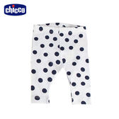 chicco-To Be Baby-內搭長褲-白底藍點