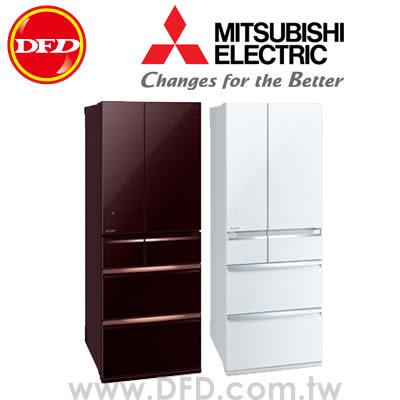 三菱 MITSUBISHI MR-WX61Z 六門冰箱 605L 日本原裝 水晶棕/水晶白 ※運費另計(需加購)