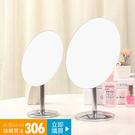 店慶優惠-歐式台式化妝鏡高清單面梳妝鏡便攜折疊美容鏡