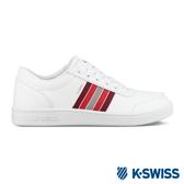 【超取】K-SWISS Court Clarkson S SE時尚運動鞋-男-白/紅