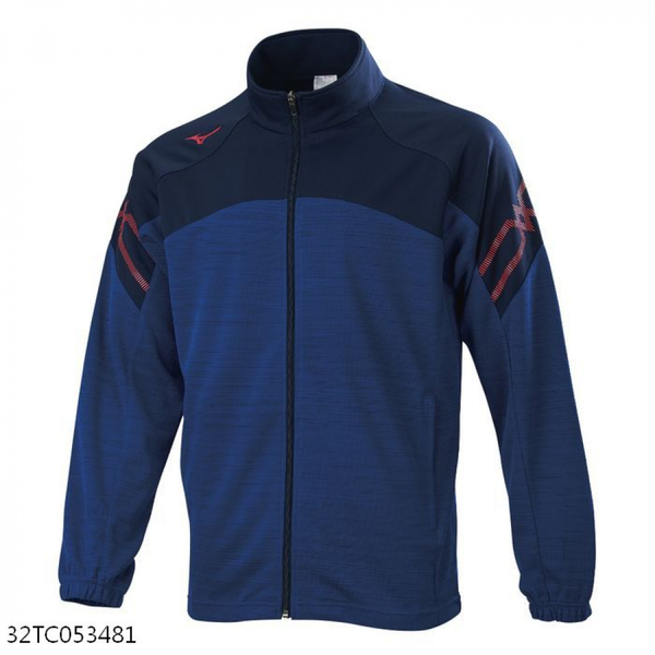 MIZUNO 男裝 外套 套裝 針織 吸汗快乾 抗紫外線 深藍【運動世界】32TC053481