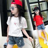 女童短袖韓版t恤休閒打底衫女孩T恤