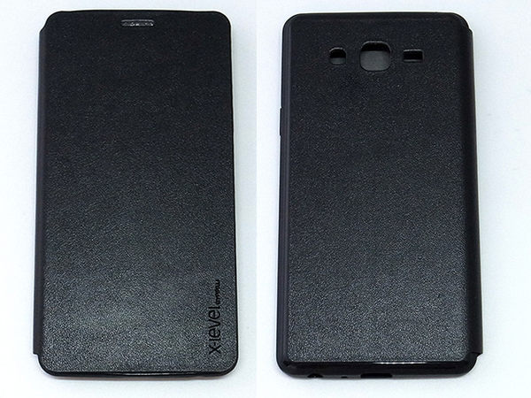 X-level Samsung GALAXY ON7 側翻式手機套 纖彩II系列 黑色