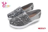 SNAIL蝸牛休閒鞋 真皮 厚底休閒鞋 懶人鞋C4767#銀色◆OSOME奧森鞋業