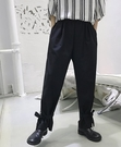 FINDSENSE H1夏季 日本 新款 文藝 獨家款 腳口繫帶 顯瘦花苞褲