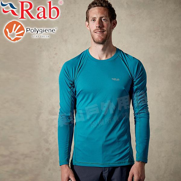 Rab QBU40-AZ亞馬遜綠 男抗菌圓領快乾排汗衫  Interval中層衣/戶外機能服/登山排汗衣/路跑運動衫