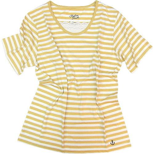 【波克貓哈日網】日系短袖T恤◇CLOTHES TRUCK◇《黃白色條紋》