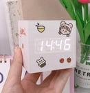鬧鐘 迷你電子學生用女生可愛臥室簡約北歐風格可充電桌面擺件時鐘 - 風尚3C