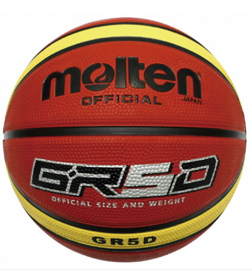 [陽光樂活=] MOLTEN BGR5D-YBW 橡膠 籃球 深溝 GR5D  5 號球