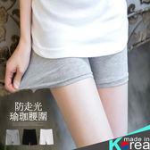 哈韓孕媽咪孕婦裝*【HB2809】正韓製.瑜珈腰孕婦褲.防走光彈力絲質棉安全褲
