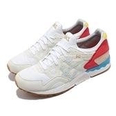 Asics 休閒鞋 Gel-Lyte V 男 復古 米白 紅 藍 襪套式 復古 運動【ACS】 1191A202100