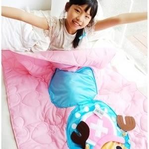 ♥靚女堂♥【104030916】航海王 海賊王兩年後喬巴粉色藍色可收納兩用涼被抱枕/地墊四季被/