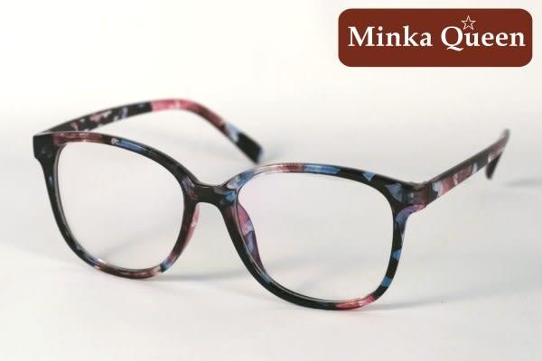 Minka Queen 夏日亮彩花色膠框(抗UV400)潮流必備個性百搭流行配光眼鏡