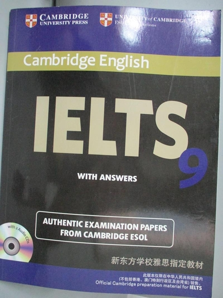 【書寶二手書T4/語言學習_XBL】IELTS Examination Papers with Answers 9_Ca