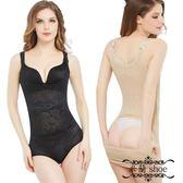【2件裝】高彈連體后脫式塑身衣薄透氣收腹束腰美體塑身內衣