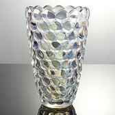 玻璃花瓶-透明水晶風格絢麗藝術品居家擺件3色72ah16[時尚巴黎]