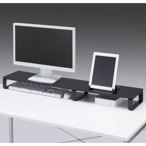 SANWA加長型螢幕、置物桌上架 深20cm 黑白2色