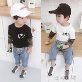 兒童長袖T恤男1-3歲秋裝2018新款寶寶韓版體恤上衣圓領男童打底衫  嬌糖小屋