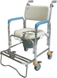 光星 四輪不鏽鋼 洗澡馬桶椅 CS-012 便器椅 馬桶椅 便盆椅
