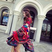 絲巾女春秋民族風披肩海灘沙灘巾棉麻大圍巾兩用紗巾空調百搭度假  泡芙女孩輕時尚