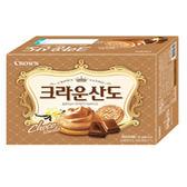 Crown巧克力三明治餅乾161G【愛買】