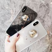 iPhone7plus手機殼女款蘋果X可愛卡通6s超萌8p滴膠透明立體小熊潮(全館滿1000元減120)