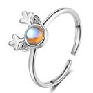 【ANGEL】一鹿有你月光石開口戒指(2色可選)