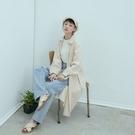 Queen Shop【01085365】純色棉麻長版排釦襯衫洋裝 三色售*現+預*
