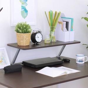 【頂堅】寬80公分(Z型)桌上型置物架/螢幕架(三色可選)深胡桃木色