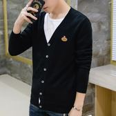 針織外套純棉針織衫男士針織開衫線衫V領毛衣外套 新主流