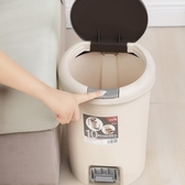 腳踏式手按垃圾桶家用衛生間客廳廚房有蓋創意臥室大號桶jy【免運】