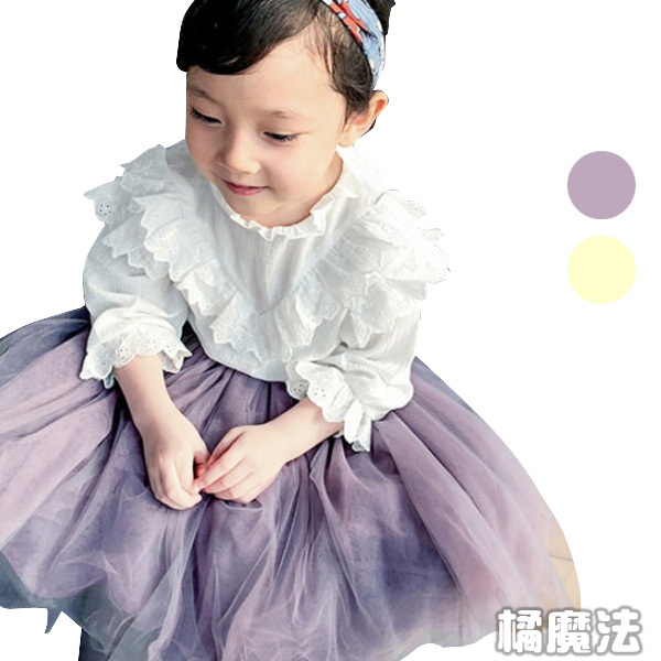中長紗裙內搭褲 女童 中童 橘魔法 Baby magic 現貨  長褲 褲裙 紗裙 女童