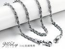 【ap14】316L鈦鋼精飾。男款捲麻花短項鍊