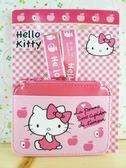 【震撼精品百貨】Hello Kitty 凱蒂貓~KITTY證件套附繩-蘋果圖案-粉色
