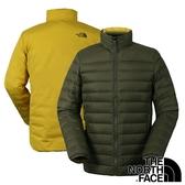 【THE NORTH FACE 美國】男 羽絨外套(充填物:鵝絨FP700)『山毛櫸綠』NF0A3KTF 保暖外套 雙面外套