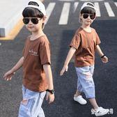 男童短袖T恤童裝2019新款韓版兒童夏裝短袖上衣中大童洋氣半袖t恤潮 FR10005『俏美人大尺碼』