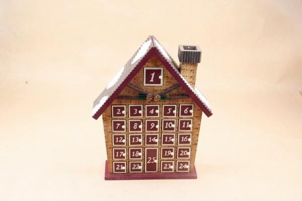 聖誕裝飾品 聖誕節木頭木製木質小房子擺件 聖誕禮品禮物場景佈置─預購CH3460