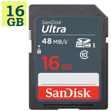 SanDisk 16GB 16G SDHC【48MB/s】Ultra SD UHS-I UHS C10 Class 10 SDSDUNB-016G 原廠包裝 記憶卡 相機記憶卡