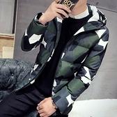 夾克外套-連帽韓版時尚迷彩休閒夾棉男外套3色73qa10【時尚巴黎】