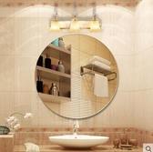 定制浴室鏡簡約歐式衛浴鏡衛生間鏡無框洗手間鏡子壁掛粘貼化妝鏡【橢圓45*60可壁掛可粘貼】