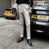 熱銷西裝褲【DAIOMENS】韓國男純色百搭直筒西裝褲修身休閒褲英倫時尚小腳