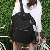 韓國設計大容量防水尼龍三用肩背包斜背包後背包Catsbag-3091023