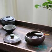 煙灰缸創意大號陶瓷滅煙器雪茄煙灰缸帶蓋