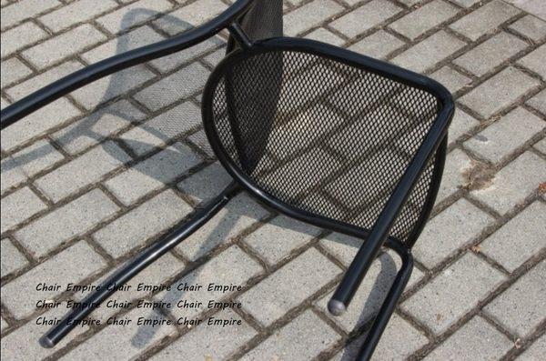 《Chair Empire》工業復古設計 黑色鐵椅 鐵網椅 網椅 戶外咖啡廳椅 歐式網格設計 無扶手餐椅