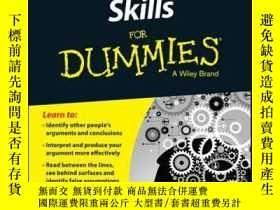 二手書博民逛書店Critical罕見Thinking Skills For DummiesY410016 Martin Coh