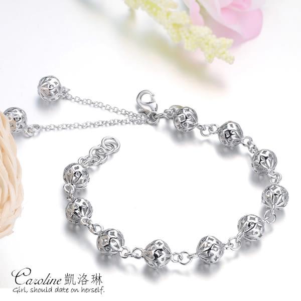 《Caroline》★【幸福來敲門】925銀手環.典雅設計優雅時尚品味流行時尚飾品手鍊66224