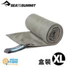 【Sea To Summit澳洲 口袋型抗 菌快乾毛巾 XL《盒裝/灰》】STSAABPOCT/吸水毛巾/速乾毛巾