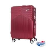 新秀麗 AT美國旅行者 Air Ride 2/8開彈力滑輪PC硬殼 行李箱/旅行箱-25吋(酒紅)