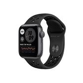【免運費】Apple Watch SE Nike+ GPS 44 mm灰鋁錶殼黑底黑洞運動錶帶 MYYK2TA/A